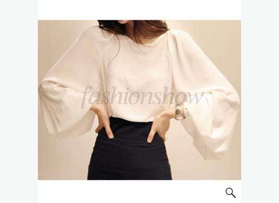 блузка белая из шифона