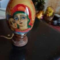 Пасхальное яйцо из дерева. акварель, в Фрязине