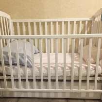 Детская кроватка с матрасом, в Колпино