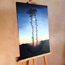 Картина маслом на холсте «Две сосны», в Москве