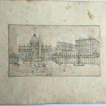 Гравюра 19 век, в Санкт-Петербурге