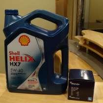Масло моторное Shell Helix HX7 5W40 4 л + масленый фильтр, в Москве