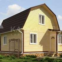 Дом 6х6 м из бруса по проекту Луисбург под ключ, в г.Солигорск