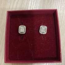 Серьги-пусеты бриллиантами, в Москве
