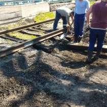 Замена шпал на железнодорожных подъездных путях, жд тупиках, в Красноярске