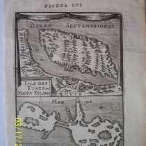 Карта Земли Арктики. Острова Etats и Maurice 1719, в Октябрьском
