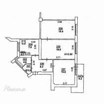 Трехкомнатная квартира в центре (дом-гигант №1), в Ростове-на-Дону