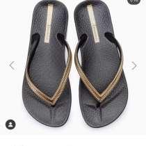 Сланцы новые Ipanema Бразилия 39 размер черные шлепки сандал, в Москве