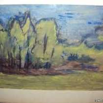 Две картины известного русского живописца,Бориса З.Турецкого, в г.Тбилиси