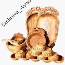 Национальная деревянная посуда Астау, в г.Алматы