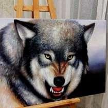Звериный оскал, 60х90см, Картина маслом на холсте, художник, в Москве