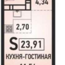 """Квартира-студия в микрорайоне """"Губернский"""", в Краснодаре"""