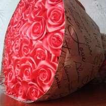 Розы из атласной ленты, в г.Новодружеск