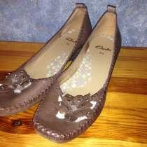 Кожаные туфли clarks из натуральной кожи р.39. 5,5, в г.Шостка