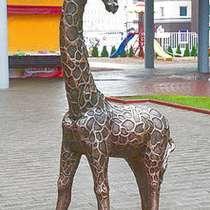 Жираф скульптурный из металла, в Краснодаре