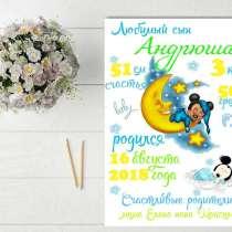 Метрика для ваших деток по 70 сом, в г.Бишкек