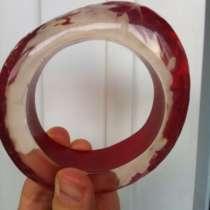 Браслет новый Miss Sixty красный прозрачный круглый пластик, в Москве