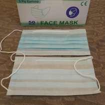 Защитные маски трехслойные, в Москве