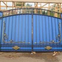 Ворота с кованными элементами, в Томске