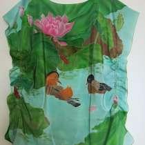 Блузка из шелка, батик, в Санкт-Петербурге