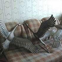 Журавль-скульптура из металла, в Краснодаре