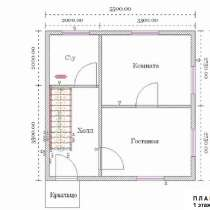 Двухэтажный дачный дом 5,5 м х 5,5 м, в Тюмени