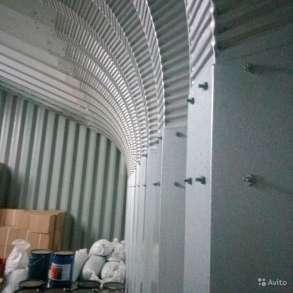 Ангар арочный - прямые стены шатровая крыша Р20-12, в Электростале