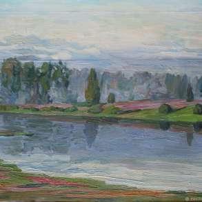 Утро на реке, в Москве