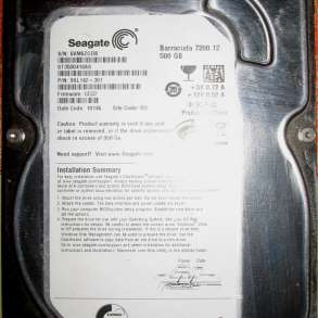 Жесткий диск Seagate Barracuda 7200.7 500 Gb, в Волгограде