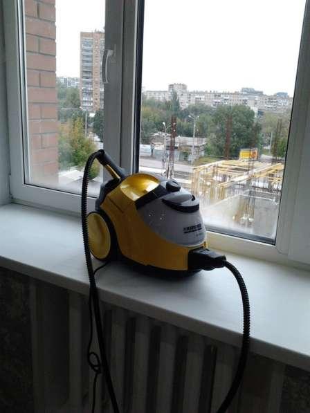 Мытье окон с парогенератором