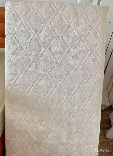 Белая кроватка+матрас+бортики+балдахин+штанга в Дмитрове фото 3