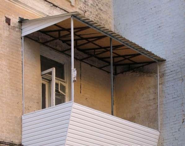 Установлю козырек на балкон в фото 3