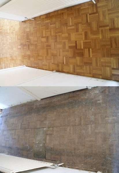 Реставрация деревянных полов, шлифовка.