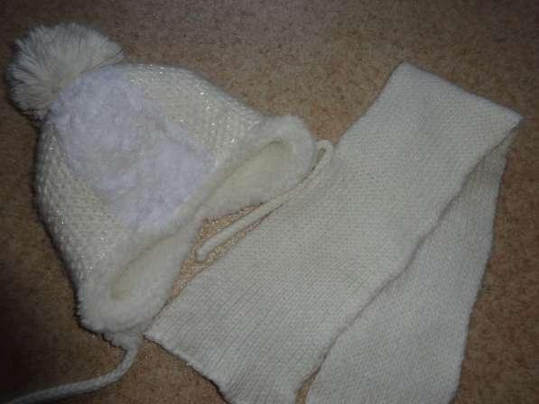 Комплект зима польская шапка и шарф 48