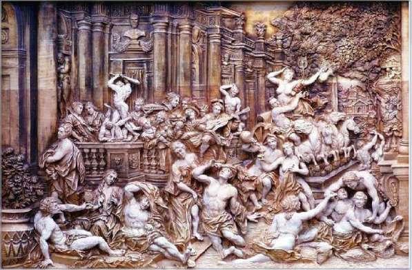 Картина Оргия художественная резьба