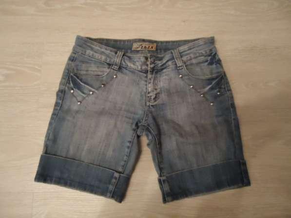 Бриджи (шорты) джинсовые, размер 27