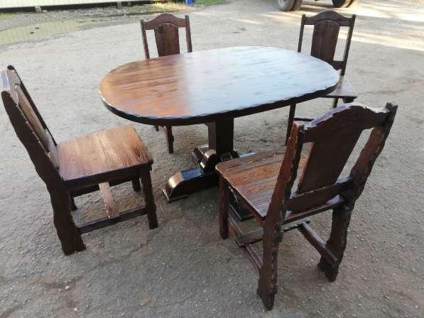 Барный Комплект мебели 5 ед. Массив лиственницы в Краснодаре фото 5