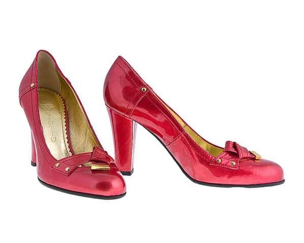 Туфли красные натурал. кожа Италия, р.35-36