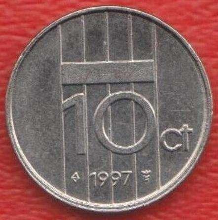 Нидерланды Голландия 10 центов 1997 г