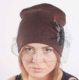 Женская трикотажная шапка модель 443