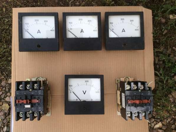 Продаю амперметры, вольтметры, пускатели магнитные