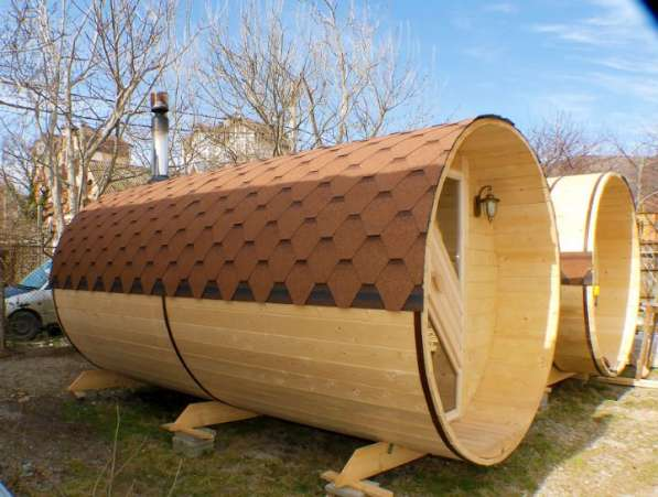 Баня бочка (комфорт): длина 4,5 м