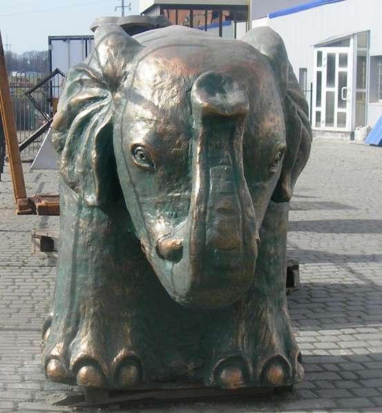 Большие фигуры для сада скульптура слона ручной работы