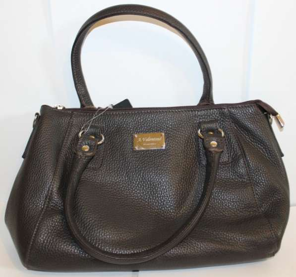 Кожаная сумка коричневая