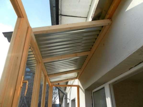 Установка крыш на балкон и лоджию в фото 3
