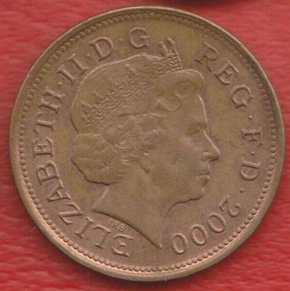 Великобритания Англия 2 пенни 2000 г. Елизавета II в Орле