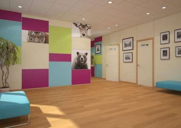 Акустические стеновые панели с акриловым покрытием и перфора