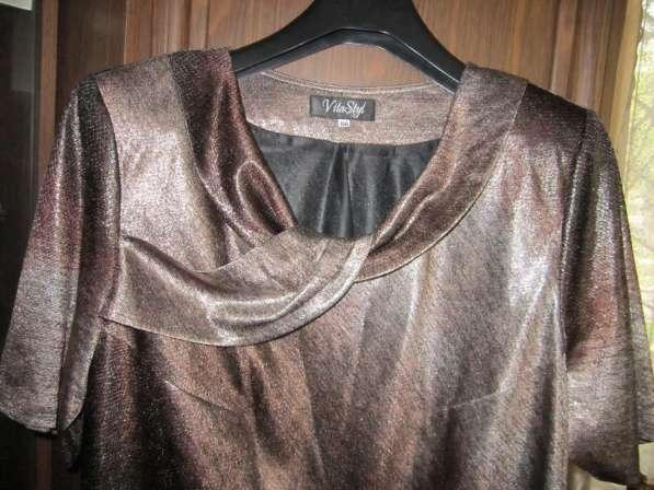 Новое платье с накидкой (размер-56)