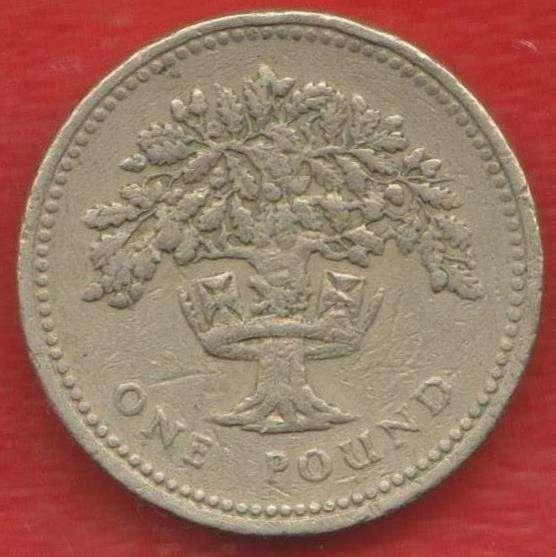 Великобритания Англия 1 фунт 1987 г. Дуб Англия Елизавета II