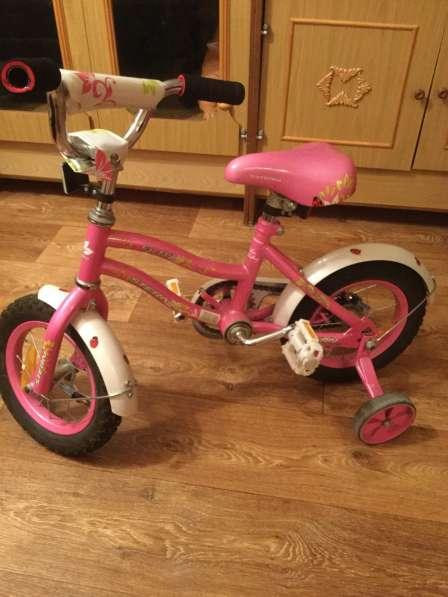 Велосипед детский розовый 3-5 лет